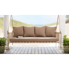 Outdoor Bench Cushions Home Depot by Hampton Bay Cane Patio Swing With Square Back Cushions Gss00208b 4