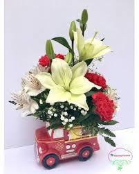 Fire Truck Arrangement Flower
