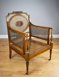 Victorian Cane Armchair By Howard & Sons