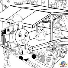 Thomas The Train Pumpkin Designs by Thomas Percy Train With Tree Coloring Pages Cartoon
