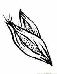 Big Corn Coloring Page