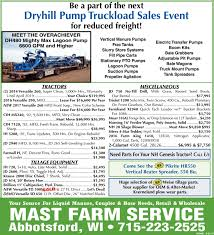 Dryhill Pump Truckload Sales Event, Mast Farm Service, Abbotsford, WI Teletron Truck Load Sale 2017 Apr 7 16 Nation Bstock Sourcing Network Bstock Sourcing Network Sales Event Reber Ranch Kent Wa Fleet News Daily Where And Transit Rolls 24 X Load King Trailers Detachable Gooseneck Trailers Rail Lube Oil Delivery Trucks Western Cascade Used Freightliner Classic Toronto Ontario American Pallet Liquidators Home Facebook Paper 2013 Page From Advanced Diesel Eeering 18 Ton Terex Bt3670