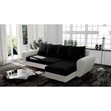 canapé noir et blanc convertible canapé d angle convertible rimini