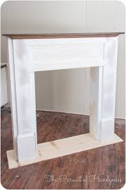 diy for in front of the fire place so we will have a mantle diy