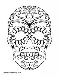 Click Here To Download The Pdf For Sugar Skull Printable Pumpkin Template Halloween Colouring PagesAdult ColoringColoring
