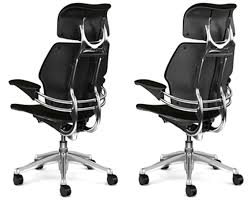 leather freedom task chair with headrest office furniture scene