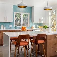 Large Midcentury Modern Enclosed Kitchen Ideas