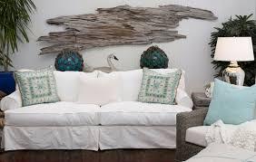 Driftwood Wall Art Hanging Slipcovered Sofa White Home Design Ideas