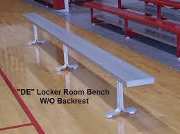Portable Aluminum Locker Room Bench w o Backrest 6 8 ft BE DE