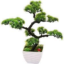 bonsai baum in kunststoff topf kunstpflanze dekoration für büro zuhause deko wohnzimmer 34 cm 13 39 in