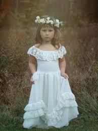rustic lace flower dress long ivory lace dress lace girls