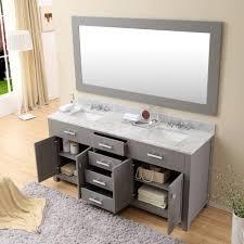 daston 72 inch gray double sink bathroom vanity carrara white