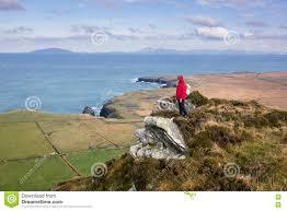 100 Bray Island Woman On Hiking Trail Stock Photo Image Of Ireland Fitness 79665082