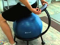 gaiam custom fit balance ball chair system product review video