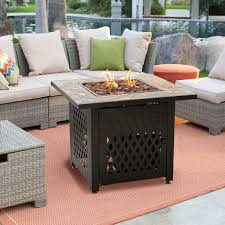 Patio Furniture Conversation Sets With Fire Pit by Belham Living Marcella All Weather Wicker 6 Piece Sectional Fire