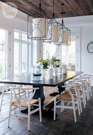 Modern Centerpieces For Dining Room Table by House Tour Modern Nautical Style Cottage Dining Room Modern And