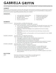 Resume For Government Job Sample Employee Compensation And Benefits Specialist With