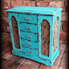 Shabby Chic Jewelry Armoire Box Rustic Jew
