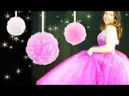 Tulle Pom Pom Decorations by How To Make Tulle Pom Poms Youtube