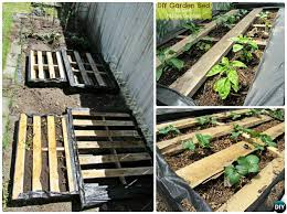DIY Pallet Raised Garden Bed 20 Ideas Instructions