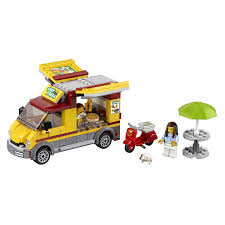 LEGO City Great Vehicles Pizza Van Food Truck & Moped Building Set ...