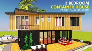 100 Homes From Shipping Containers Floor Plans Modular Container 3 Bedroom Prefab Home Design MODBOX 1280Y SHELTERMODE