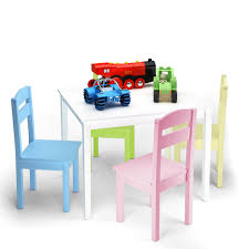 Costway 5 Piece Kids Wood Table Chair Set Activity Toddler Playroom  Furniture Colorful Kids Study Table Chairs Details About Kids Table Chair Set Multi Color Toddler Activity Plastic Boys Girls Square Play Goplus 5 Piece Pine Wood Children Room Fniture Natural New Hw55008na Schon Childrens And Enchanting The Whisper Nick Jr Dora The Explorer Storage And Advantages Of Purchasing Wooden Tables Chairs For Buy Latest Sets At Best Price Online In Asunflower With Adjustable Legs As Ding Simple Her Tool Belt Solid Study Desk Chalkboard Game