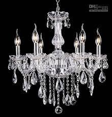 Simple Crystal Chandelier Bedroom Lights Living Room 6 Bulbs