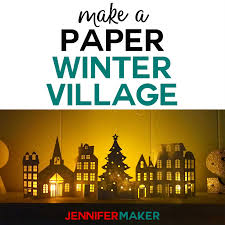 100 Houses F Paper Christmas Village Jennifer Maker