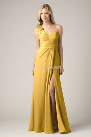 online get cheap one shoulder evening gown in gold aliexpress com