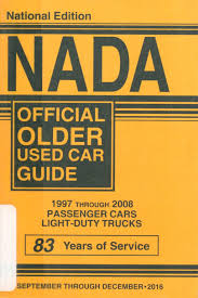100 Used Truck Values Nada NADA Official Older Car Guide 1997 Through 2008