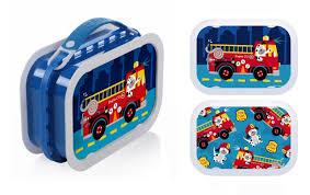 100 Fire Truck Lunch Box Dalmation Dog EcoFriendly Yubo Box In Blue