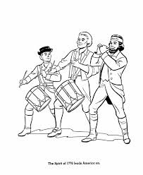 America Revoltionary War Coloring Page
