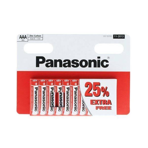 Panasonic AAA Zinc Carbon Batteries - 1.5V, 10pk