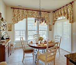 Dining Room Curtains And Valances Astounding French Country Kitchen Using Floral