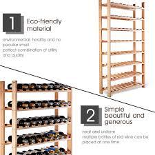 Amazoncom ReunionG Wine Rack Wood Modular Stackable