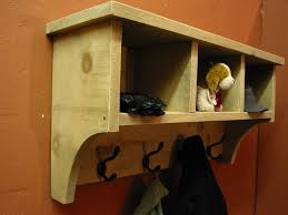 Coat Hanger Cube Entry Shelf Storage Cubby With