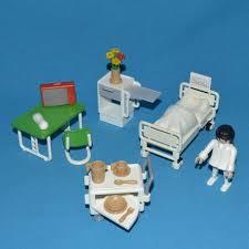 bureau playmobil playmobil chambre hôpital 1984 vintage 3495 lit chevet table