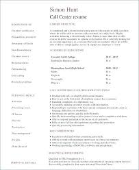 Resume Examples For Call Center Manager With Sample