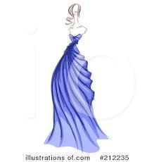 Gown Clipart Fashion Design 4