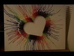 Crayon Melting Rainbow Heart