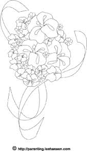 Wedding Flowers Coloring Page Printable Bouquet Sheet