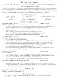 Professional Resume Samples Free Example Nicholas R Heine