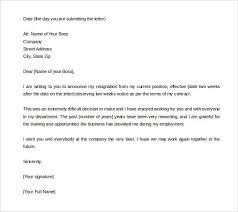 57 Best Notice Images On Letter Of Resignation 2 Weeks Notice Template Formal Depiction Two