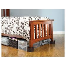 Target Bed Risers by Whitmor Wood Bed Risers Set Of 4 Espresso Target
