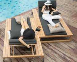 Belize Modern Teak Luxury Outdoor Furniture Design Chaise Lounge Pool Lounger Grey Cushion Quickdry Hotel Hospitality