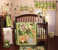 amazon com nojo jungle babies 8 piece bedding set crib bedding