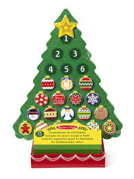 Christmas Tree Amazon Uk by Melissa U0026 Doug Countdown To Christmas Wooden Advent Calendar