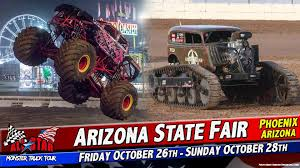 All Star Monster Trucks - Phoenix Arizona @ Arizona State Fair ... Monster Trucks Motocross Jumpers Headed To 2017 York Fair Jam Returning Arena With 40 Truckloads Of Dirt Anaheim Review Macaroni Kid Truck Rentals For Rent Display At Angel Stadium Announces Driver Changes For 2013 Season Trend News Tickets Buy Or Sell 2018 Viago 31st Annual Summer 4wheel Jamboree Welcomes Ram Brand Baltimore 2016 Grave Digger Wheelie Youtube Jams Royal Farms Arena Postexaminer Xxx State Destruction Freestyle 022512 Atlanta 24 February
