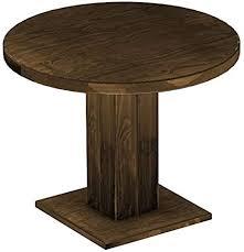 brasil möbel brasilmöbel säulentisch uno rund 100 cm eiche antik tisch esstisch pinie massivholz esszimmertisch holz küchentisch echtholz größe